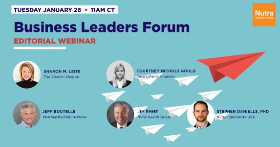 Tomorrow: Hear from the CEOs of The Vitamin Shoppe, Pharmavite, SmartyPants & NOW at the Business Leaders Forum