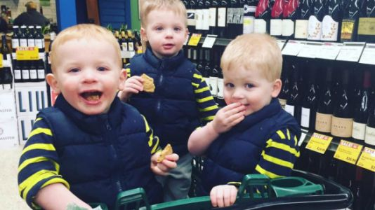This Is What It's Like To Go Out In Public With Triplets