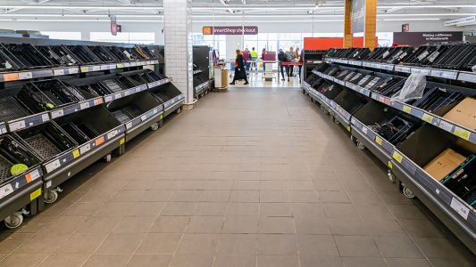 """""""Firebreak"""" lockdown in Wales sees non-essential items covered in grocery stores"""