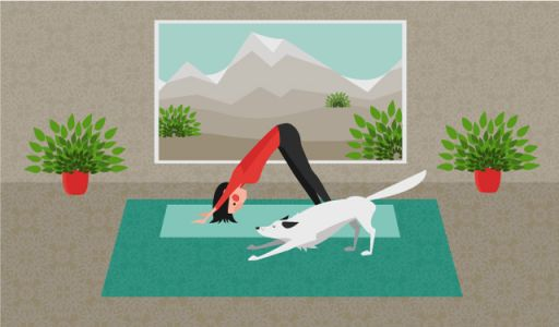 Here's why the downward-facing dog yoga pose is good for your back