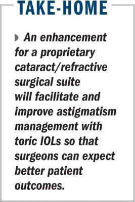 New technology aims to improve ease, accuracy of toric IOL surgery planning