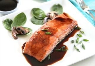 Red Wine and Ginger Glazed Salmon