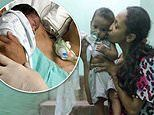 Mother, 28, who gave birth in a coma finally woke 23 days later when her son was placed in her arms