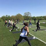 Michelle Obama Doing Boot Camp With Her Girl Squad Is the Truest Form of FitGoals