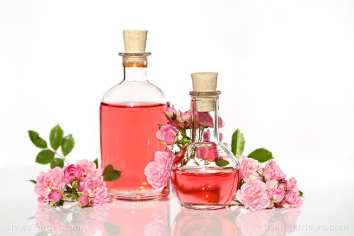 Rose water is an antimicrobial and anti-inflammatory remedy for skin infections
