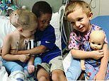 Toddler has a head larger than most adults' after undergoing life-saving surgery