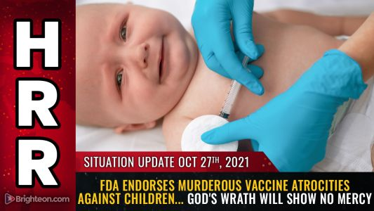 FDA endorses murderous vaccine ATROCITIES against children. Emergency Rooms across America being filled with post-vaccine patients suffering serious illness