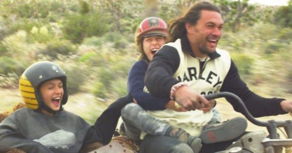 Jason Momoa Built A Motorcycle With His Kids And It's Adorable AF