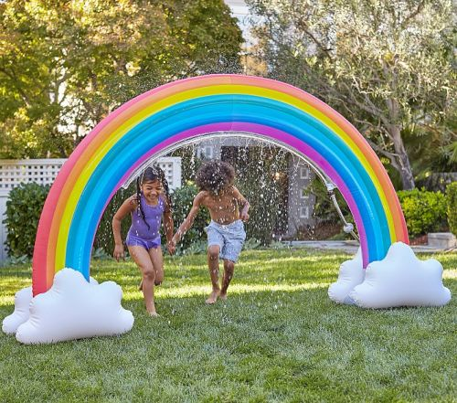 Your Summer Won't Be Complete Without This Huge Rainbow Sprinkler