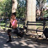 All You Need Is a Park Bench For This Victoria's Secret Model's Butt Workout