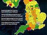 Almost a THIRD of England's councils saw a drop in coronavirus infection rates