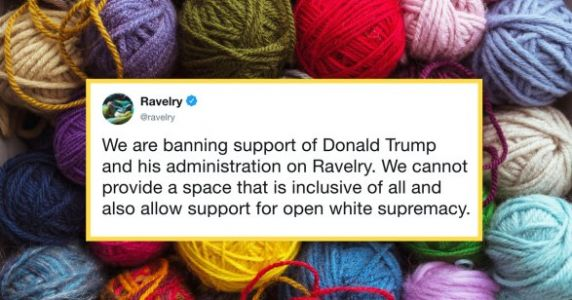 Online Knitting Community 'Ravelry' Bans Posts Supporting Trump