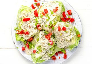 Wedge Salad With Blue-Cheese Ranch Dressing
