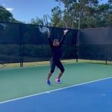 """Watch Serena Williams Casually Hit Megan Thee Stallion's """"Body"""" Choreo During Tennis Practice"""