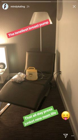 Instagram Pic Shows Mindy Kaling Living Her Best Breast Pump Life