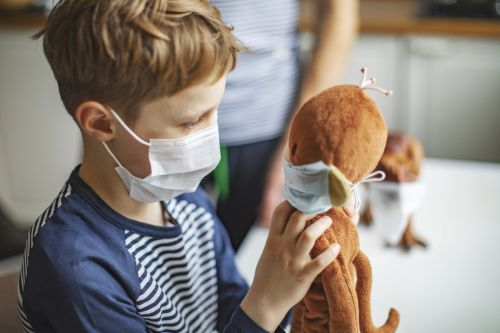 Cases in Children Helping the Surge of COVID Variants