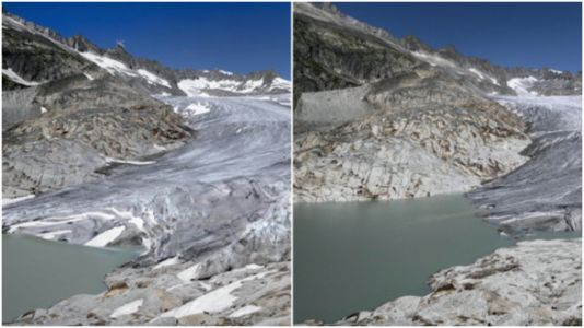 These '10 Year Challenge' Climate Change Photos Are Absolutely Haunting