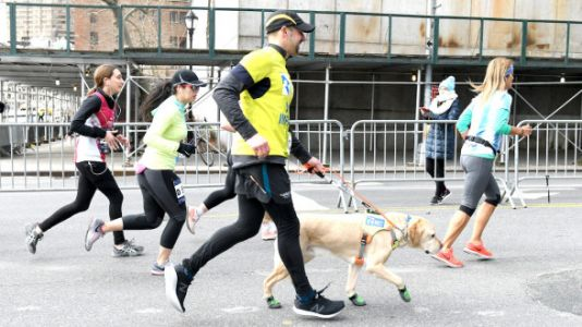 Blind Runner Makes History Finishing NYC Half Marathon With Trio Of Guide Dogs