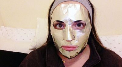 This Is What Happened When I Copied Victoria Beckham's Foil Face Mask