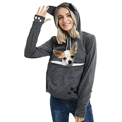This Hoodie Has A Pouch For Your Cat & We're All About It