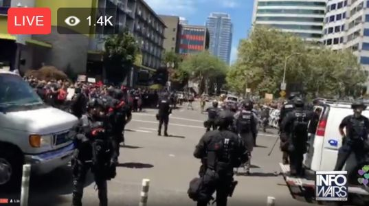 The liberal mayor of Portland, OR refuses to arrest Antifa terrorists. streets overrun with lunatic left-wing violence, police told to stand down
