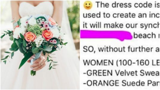 This Bride Gave Her Guests A Dress Code Based On Weight - Yes, Really