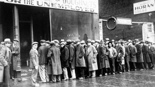 Unemployment now at Great Depression levels, food inflation soaring