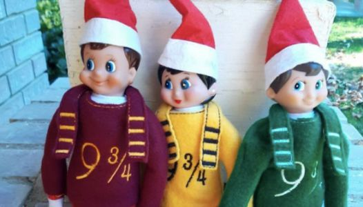 If You're Out Of Ideas You Can Dress Your Elf Like Harry Potter Now