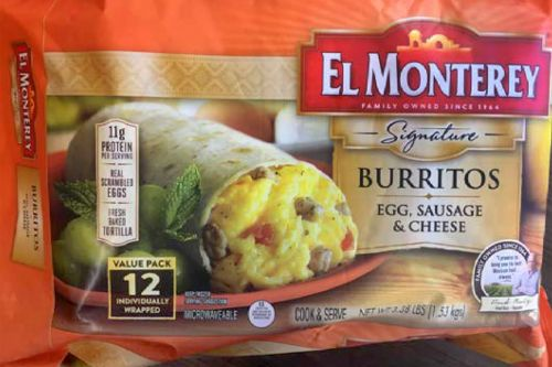 RECALL: Frozen Burritos for Plastic Pieces