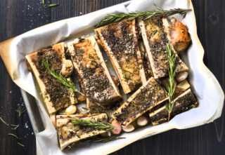 Roasted Bone Marrow with Rosemary and Garlic