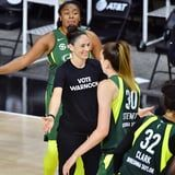 """WNBA Players Are Wearing """"Vote Warnock"""" Shirts to Take a Stand For Black Lives Matter"""