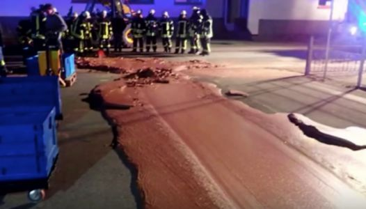 A Street In Germany Was Accidentally Covered In Chocolate And The Comments Are Gold
