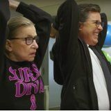 Please Enjoy 85-Year-Old Ruth Bader Ginsburg Whooping Stephen Colbert's Butt in a Workout