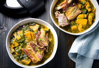 Instant Pot Short Ribs With Sweet Potatoes and Spinach