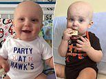 Seven-month-old baby beats rare blood cancer after doctors first diagnosed him with flu