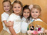 Four little girls who beat cancer pose for touching photo