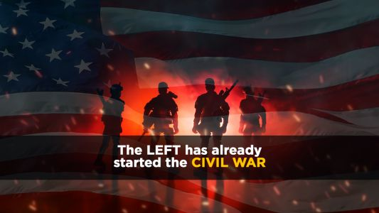 Leftists triggered by questions and media lies are pushing America closer to Civil War: Increasingly violent Left won't be able to survive the terror they're unleashing upon America