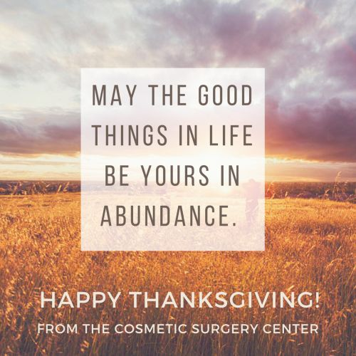 Happy Thanksgiving from Dr. Perkins and the Cosmetic Surgery Center