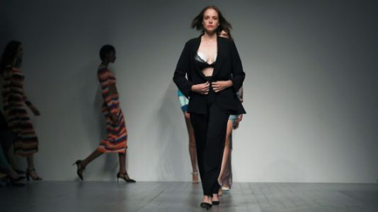 Bad-Ass Model Wears Breast Pump While Walking The Runway