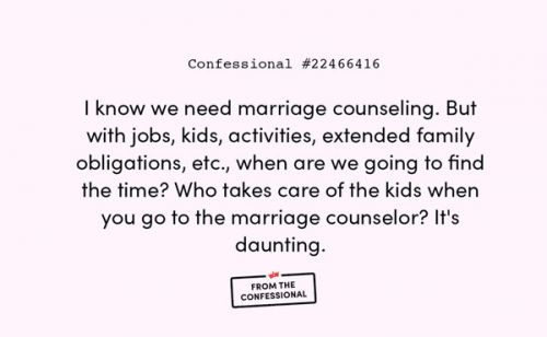 From The Confessional: How I REALLY Feel About Marriage Counseling