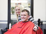 Hairdresser saves a father-of-three's life after spotting a lump on his head which was cancer