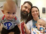 Baby boy battles rare brain cancer that strikes just 30 US children a year