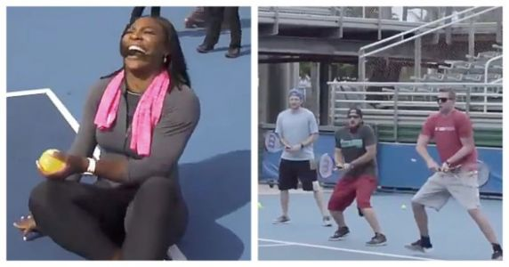 The Pure Joy On Serena Williams' Face As She Beats These Men Is Perfection