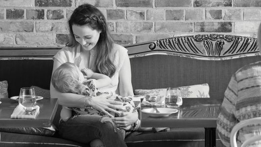 When you're plus-size, you get a lot more side-eye for breastfeeding in public
