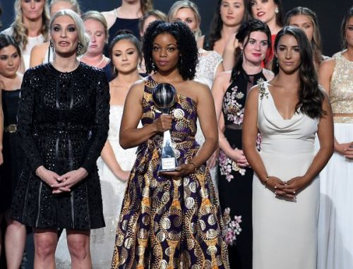 Aly Raisman And 140 Of Larry Nassar's Victims Unite For Powerful Moment On ESPY Stage