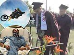 Student nearly paralyzed by motocross accident walks at high school graduation