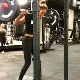 Jasmine Tookes's Insanely Strong Elevated Heel Squats Define Beast Mode