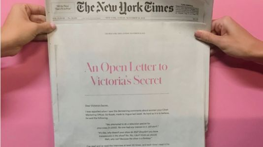 Lingerie Company's Full Page NYT Ad Puts Victoria's Secret Exec In His Place