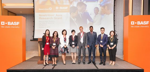 CLA, probiotics and plant-sterol studies benefit from BASF's Newtrition Asia Research Grant