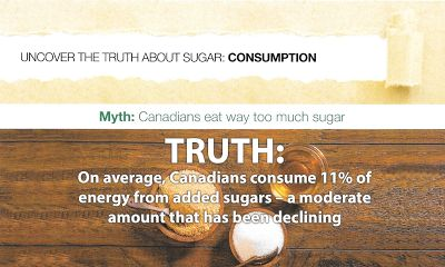 Canadian Nutrition Society Calls 13 Daily Teaspoons of Added Sugar 'Moderate'